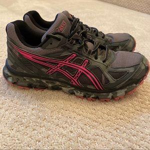 ASICS Gel-SCRAM 2 Grey Camo Trail Running Sneakers